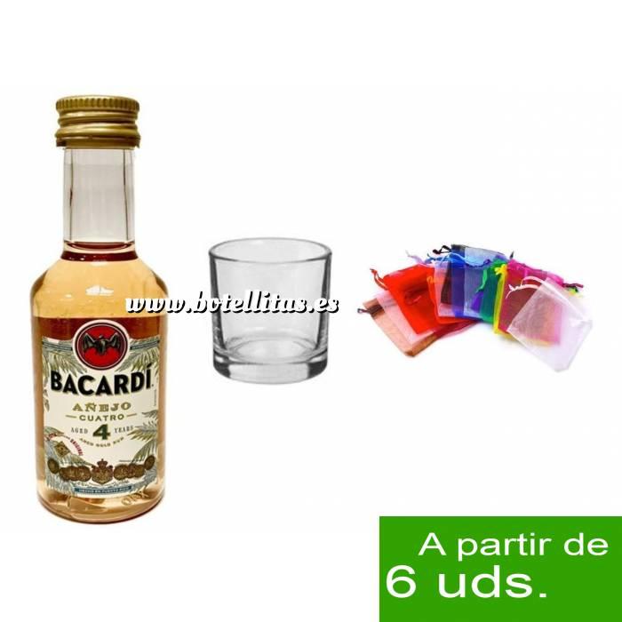 Imagen - Los kits más deseados Pack Bacardi 4 años 5cl más Chupito más Bolsa de Organza