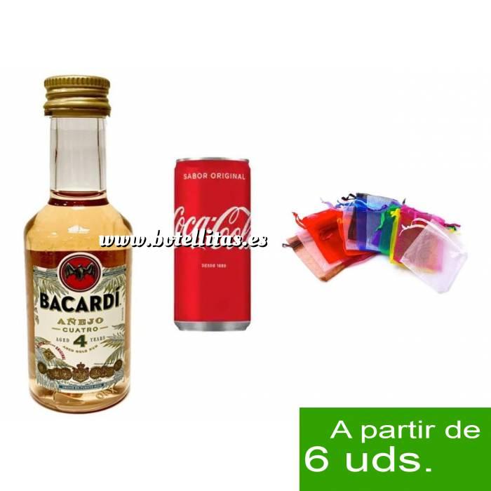 Imagen - Los kits más deseados Pack Bacardi 4 años 5cl más Coca Cola 20cl más Bolsa de Organza