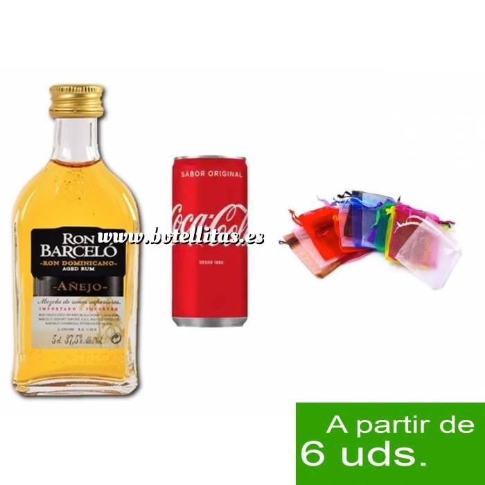 Imagen - Los kits más deseados Pack Barcelo 5cl más Coca Cola 20cl más Bolsa de Organza