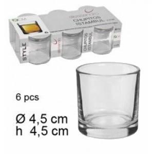 Imagen FRASCAS-TARROS Vaso de Chupito de Cristal 4,5 x 4 x 4