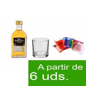 - Los kits más deseados - Pack Barcelo 5cl más Chupito más Bolsa de Organza