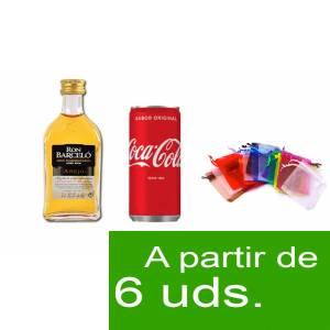 - Los kits más deseados - Pack Barcelo 5cl más Coca Cola 20cl más Bolsa de Organza