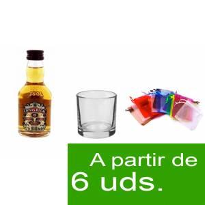 - Los kits más deseados - Pack Chivas Regal 12 años 5cl más Chupito más Bolsa de Organza