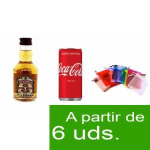 - Los kits más deseados - Pack Chivas Regal 12 años 5cl más Coca Cola 20cl más Bolsa de Organza