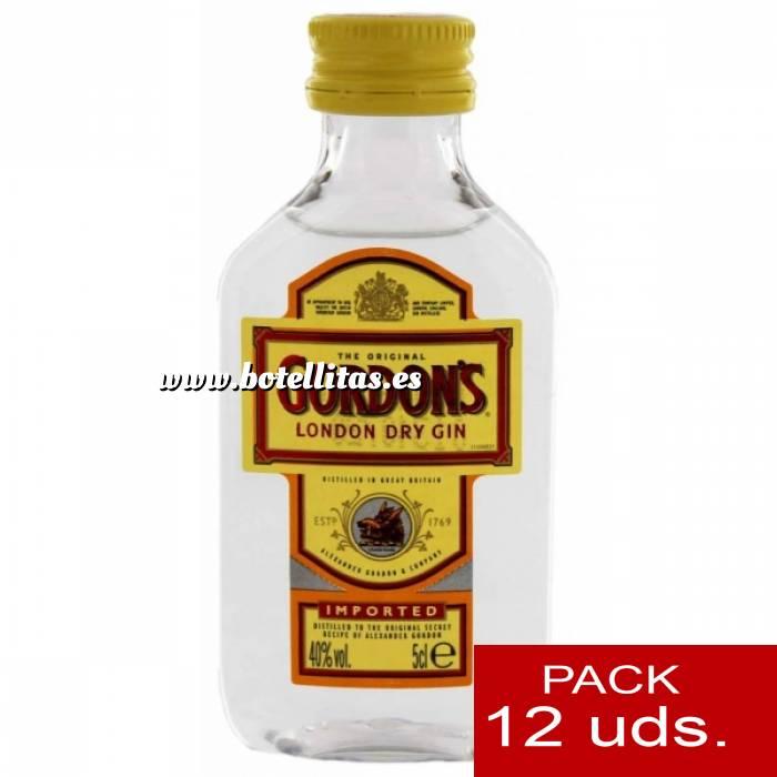 Imagen 1 Ginebra Ginebra Gordon´s London Dry Gin 5cl - PT 1 PACK DE 12 UDS