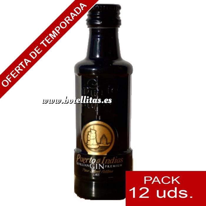 Imagen 1 Ginebra Ginebra Puerto de Indias Pure Black 5cl - PT 1 PACK DE 12 UDS