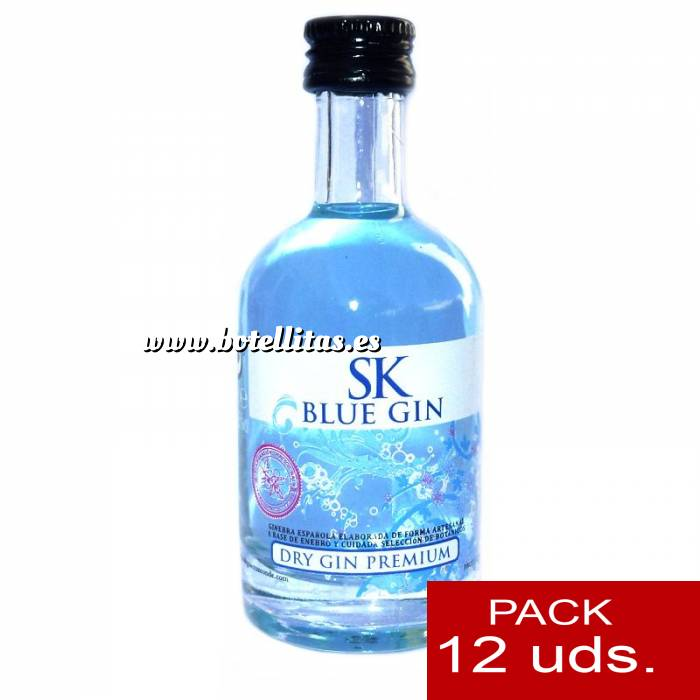 Imagen 1 Ginebra Ginebra SK Blue Dry Gin 5cl 1 PACK DE 12 UDS