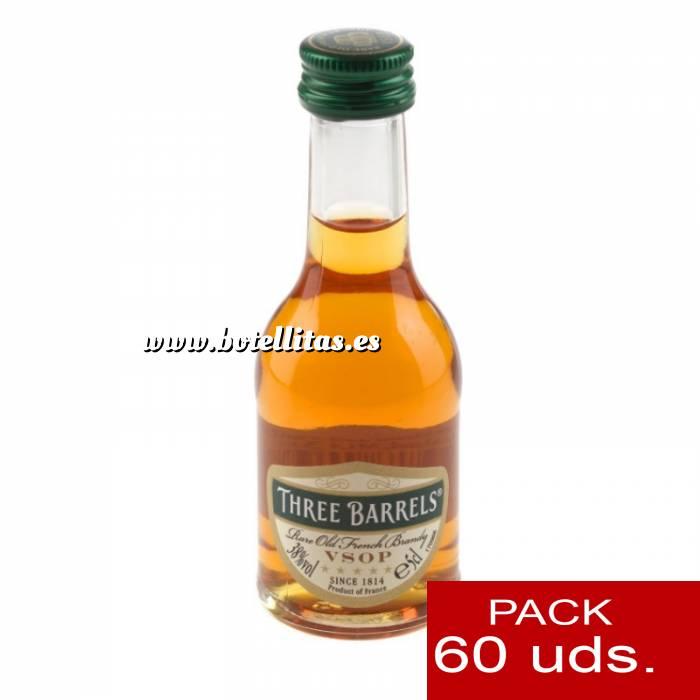 Imagen 2 Brandy Brandy Three Barrels VSOP 5cl. CAJA DE 60 UDS.