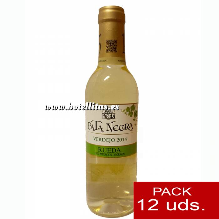 Imagen 4 Vino Vino Pata Negra Rueda Blanco Verdejo 37.5 cl CAJA COMPLETA 12 UDS