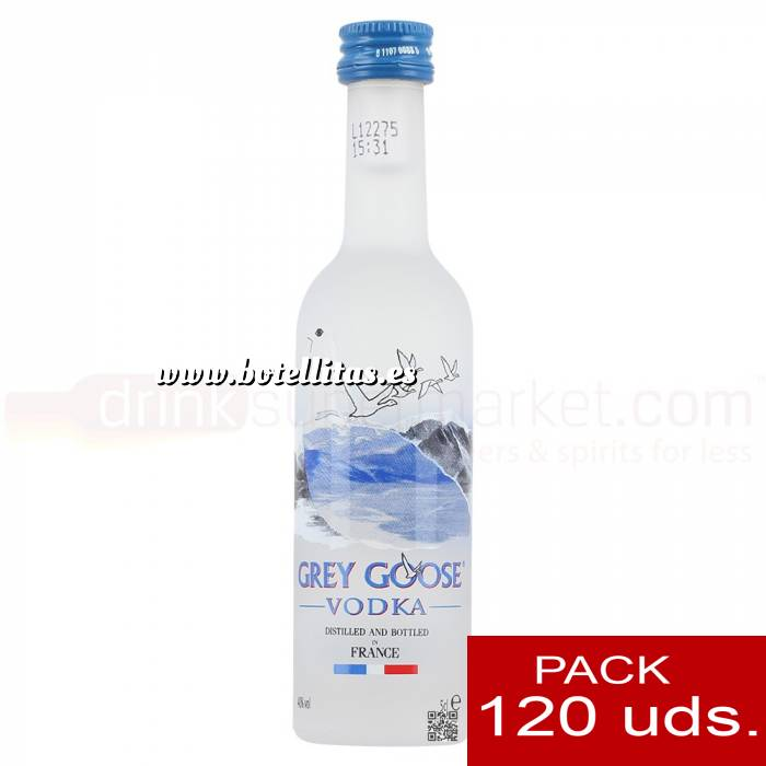 Imagen 5 Vodka Vodka Grey Goose 5cl CAJA DE 120 UDS