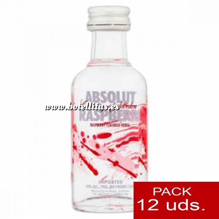 Imagen 6 Vodka Vodka Absolut Raspberri 5cl 1 PACK DE 12 UDS