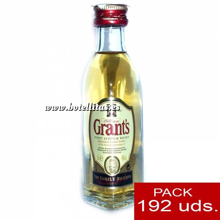 Imagen 6 Whisky Whisky Grants Escocés 5cl - CAJA DE 192 UDS