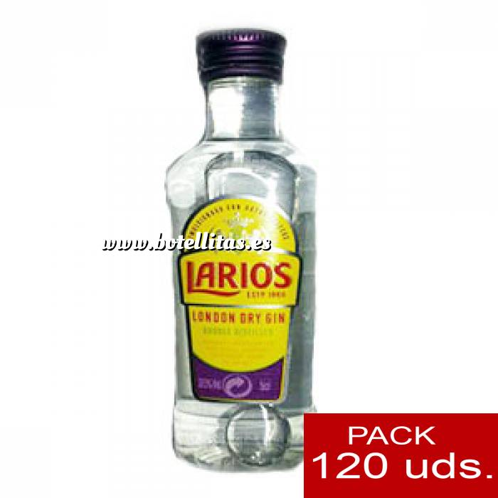Imagen Ginebra Ginebra Larios Dry Gin 5cl CAJA DE 120 UDS