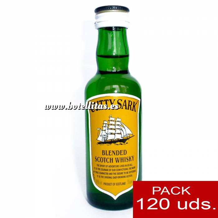 Imagen Whisky Whisky Cutty Sark 5cl CAJA DE 120 UDS