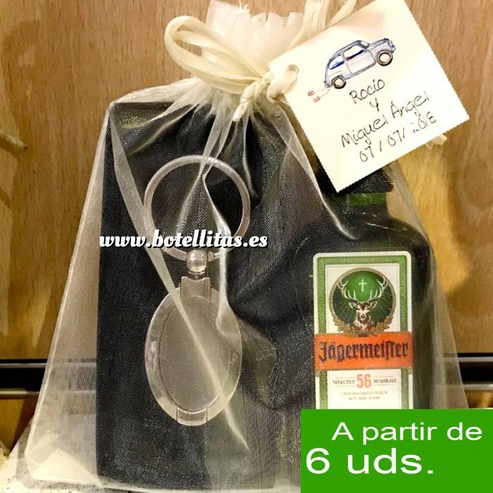 Imagen - KITS DE REGALO Pack jagermeister 4cl Cristal más llavero más Bolsa de Organza
