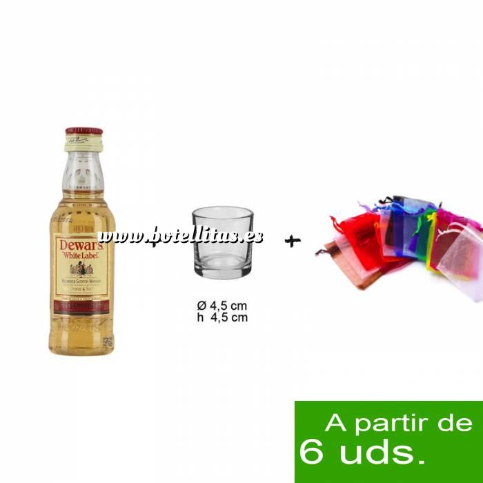Imagen - Los más deseados Pack Whisky Dewarás White Label 5cl más chupito más Bolsa de Organza
