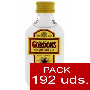 1 Ginebra - Ginebra Gordon´s London Dry Gin 5cl - PT CAJA DE 192 UDS