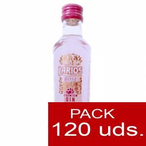 1 Ginebra - Ginebra Larios Rosé Mediterránea (Premium Gin) 5cl CAJA 120 UDS