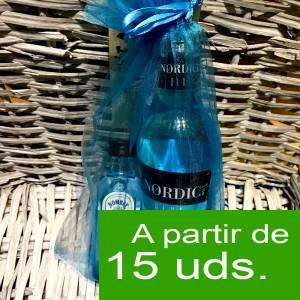 1 KITS DE REGALO - Pack Bombay Sapphire Cristal 5cl más Nordic Blue Mist 20cl más bolsa de organza