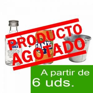 1 KITS DE REGALO - Pack Vodka Absolut 5cl más Naaranja 25cl más Cubo de metal