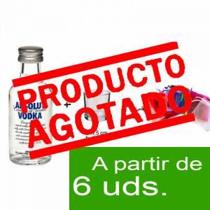 1 KITS DE REGALO - Pack Vodka Absolut 5cl más chupito más Bolsa de Organza