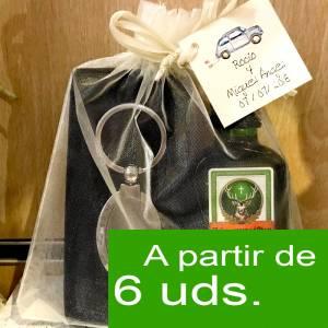 1 KITS DE REGALO - Pack jagermeister 4cl Cristal más llavero más Bolsa de Organza
