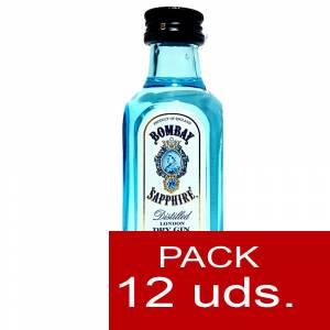 2 Ginebra - Ginebra Bombay Sapphire 5cl Cristal 1 PACK DE 12 UDS