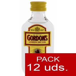 2 Ginebra - Ginebra Gordon´s London Dry Gin 5cl 1 PACK DE 12 UDS