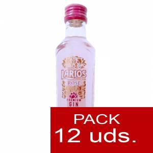 2 Ginebra - Ginebra Larios Rosé Mediterránea (Premium Gin) 5cl 1 PACK 12 UDS
