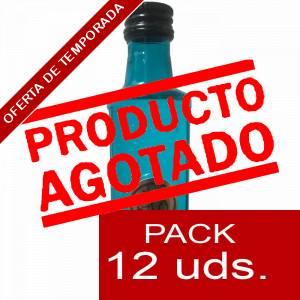 2 Ginebra - Ginebra PUERTO DE INDIAS CLASSIC AZUL 5cl 1 PACK 12 UDS