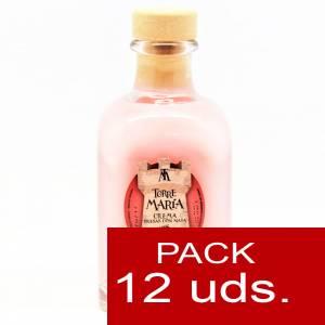 2 Licores, orujos y crema - Crema de Fresas y Nata Torre María FRASCA 100 - CAJA DE 12 UDS