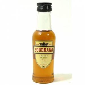 3 Coñac - Coñac Soberano Brandy 5cl
