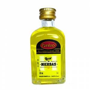 3 Licor, Orujo y Cremas - Mini Orujo de hierbas Panizo 5cl