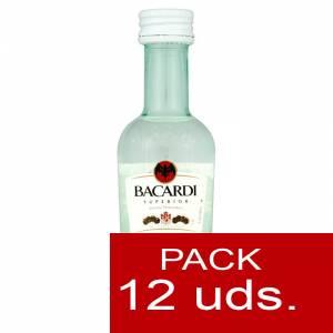 3 Ron - Ron Bacardí Superior 5cl - PT 1 PACK DE 12 UDS