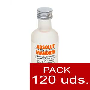 5 Vodka - Vodka Absolut Mandrin 5cl CAJA DE 120 UDS