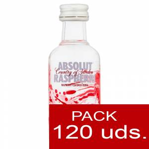 5 Vodka - Vodka Absolut Raspberri 5cl CAJA DE 120 UDS