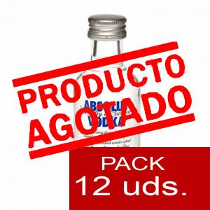 6 Vodka - Vodka Absolut 5cl 1 PACK DE 12 UDS