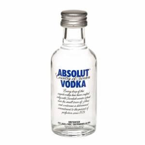 6 Vodka - Vodka Absolut 5cl (OFERTA 2019)
