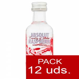 6 Vodka - Vodka Absolut Raspberri 5cl 1 PACK DE 12 UDS