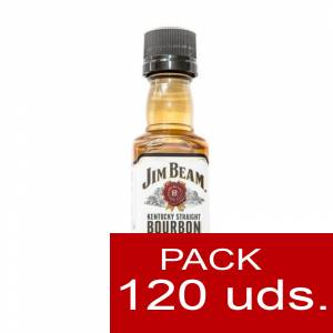 6 Whisky - Bourbon Jim Beam KENTUCKY STRAIGHT (Tapón Negro) CAJA DE 120