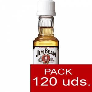 6 Whisky - Bourbon Jim Beam (Tapón Blanco) CAJA DE 120 UDS