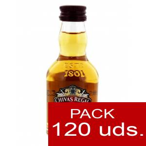 6 Whisky - Whisky Chivas Regal 12 años Blended 5cl CAJA DE 120 UDS