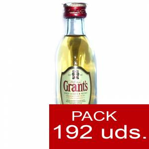 6 Whisky - Whisky Grants Escocés 5cl - CAJA DE 192 UDS
