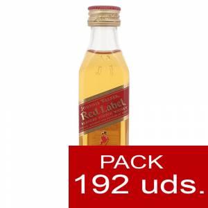 6 Whisky - Whisky Johnnie Walker Etiqueta Roja CAJA DE 192 UDS - SUPER OFERTA