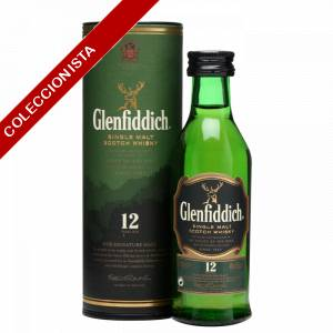 7 Whisky - Whisky Glenfiddich 12 años c/Tubo, 5cl