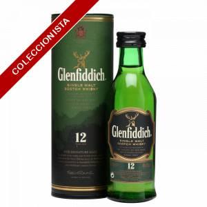 8 Whisky - Whisky Glenfiddich 12 años c/Tubo, 5cl