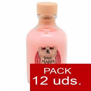 Licores, orujos y crema - Crema de Fresas y Nata ROCÍO 50 (Torre María) - CAJA DE 12 UDS