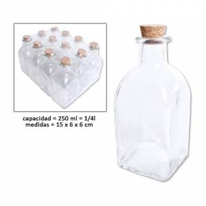 Vac�as de Cristal - Frasca Vac�a 250 ml