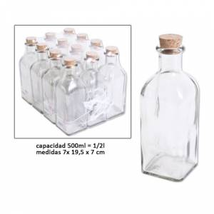 Vac�as de Cristal - Frasca Vac�a 500 ml