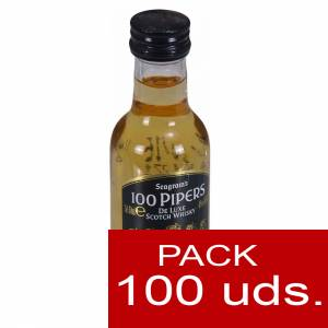 Whisky CAJAS - Whisky 100 pipers 5cl CAJA DE 100 UDS
